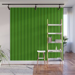 Striped black and light green background Wall Mural