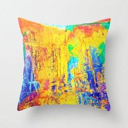 Imaginäre Landschaft - Ölgemälde auf Leinwand Throw Pillow