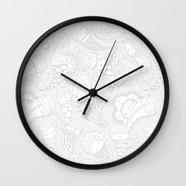 Ghostly Paisley: Dust to Dust Wall Clock