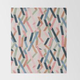 Straight Geometry Ribbons 1 Throw Blanket