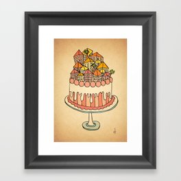 Cake Town Framed Art Print