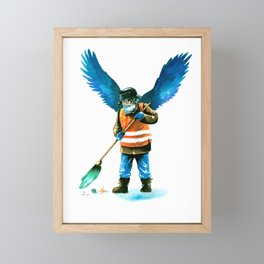 street sweeper Framed Mini Art Print