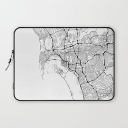 Minimal City Maps - Map Of San Diego, California, United States Laptop Sleeve