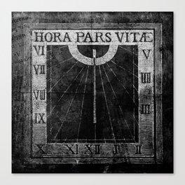 Hora Pars Vitae Canvas Print