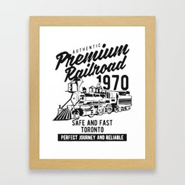 authentic premium railroad Framed Art Print
