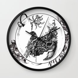 Magpies Nest Wall Clock
