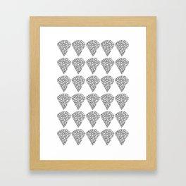Diamond Repeat Pattern Framed Art Print