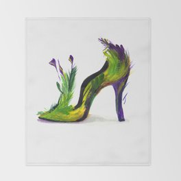 Feathered Heel Throw Blanket