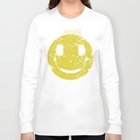 springsteen Long Sleeve T-shirts featuring Music Smile V2 by Sitchko Igor