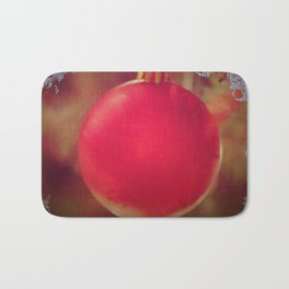 The Red Christmas Ball in the Window Bath Mat