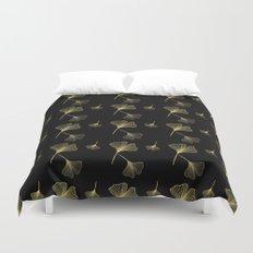 Ginkgo Black Gold Duvet Cover