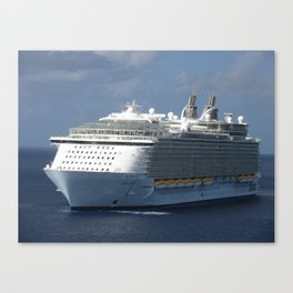 Cruise ship Oasis Underway Off Grand Cayman Canvas Print
