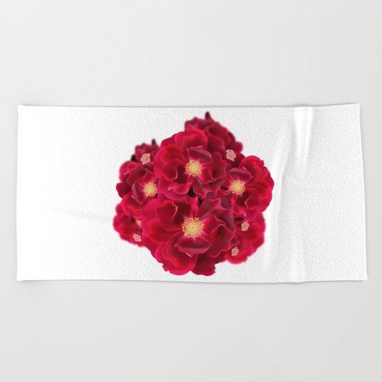Floral Ink Beach Towel