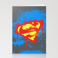superheros Stationery Cards featuring Super S by Sophie Rousseau