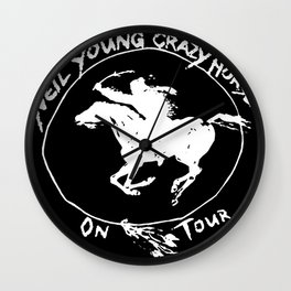 neil young crazy horse tour 2020 2021 ngamein Wall Clock