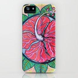 Mandala ibiscus love iPhone Case