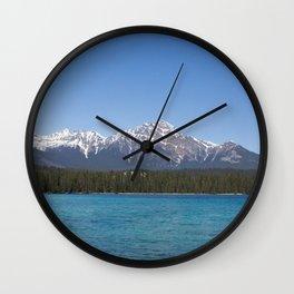 Pyramid Mountain at Lac Beauvert Wall Clock