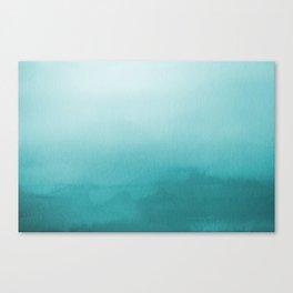 Aqua Teal Turquoise Watercolor Ombre Gradient Blend Abstract Art - Aquarium SW 6767 Canvas Print