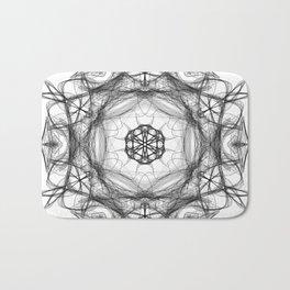 Star Light Mandala Black & White Bath Mat