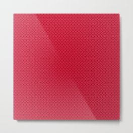 Crimson Red Scales Pattern Metal Print