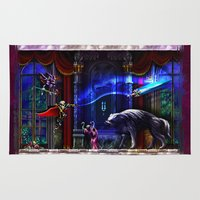 castlevania Area & Throw Rugs featuring Castlevania Verboten by likelikes