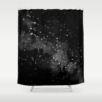 outer space Shower Curtains featuring Outer Space by kris kang