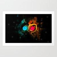 majoras mask Art Prints featuring Majoras Mask  by manta