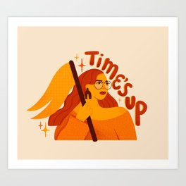 TIME'S UP by Maia Faddoul Art Print