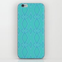 coasters iPhone & iPod Skins featuring Abstract Teal Pattern  by Lena Photo Art
