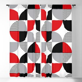 Colorful geometry 8 Blackout Curtain