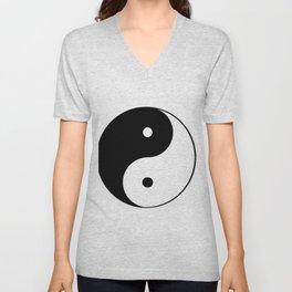 Black and White Yin Yang Unisex V-Neck