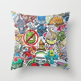 Kampu Kids Throw Pillow