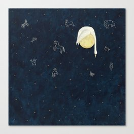 Sleeping on the Moon Canvas Print