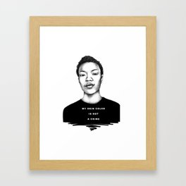 My skin color is not a crime Framed Art Print