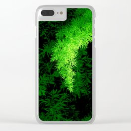furry green line in the rays of light Clear iPhone Case