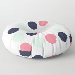 Painted dots trendy color palette minimal polka dots decor nursery home Floor Pillow