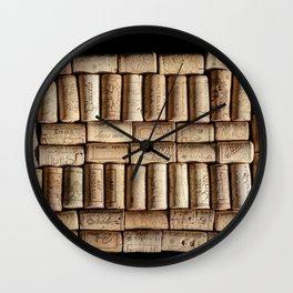 Wine corks close up Wall Clock
