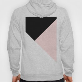 Blush meets Black & White Geometric #1 #minimal #decor #art #society6 Hoody