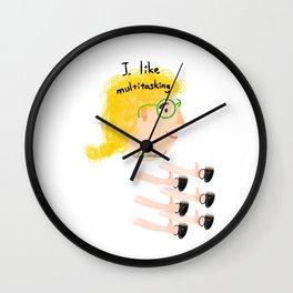 Multitasking woman Wall Clock