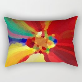 Painter's Floral Rectangular Pillow