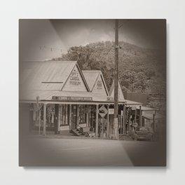 Vintage Town View Metal Print