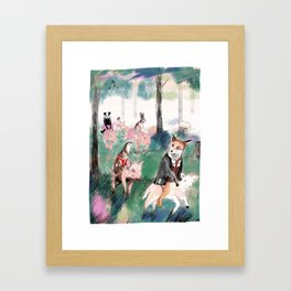 Pig riders Framed Art Print