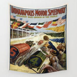 Vintage poster - Indianapolis Motor Speedway Wall Tapestry
