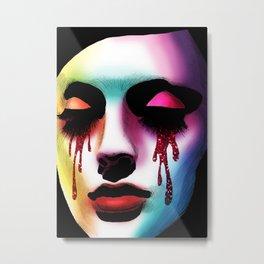 Glitter Tears Metal Print