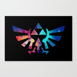 The Legend of Zelda Triforce Multicolored Stars Canvas Print