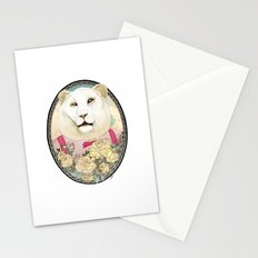 Lion and Roses Stationery Cards
