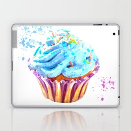 Cupcake watercolor illustration Laptop & iPad Skin