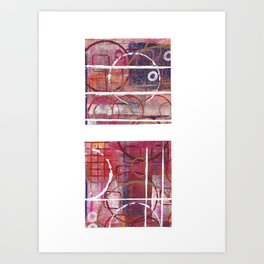 Lines, Circles And Squares, OH MY! 1 Art Print