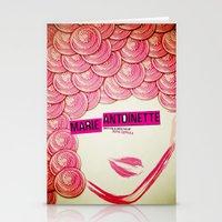 marie antoinette Stationery Cards featuring Marie Antoinette by Linda Hordijk