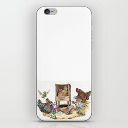 """Life in the Coop"" funny chicken watercolor iPhone Skin"